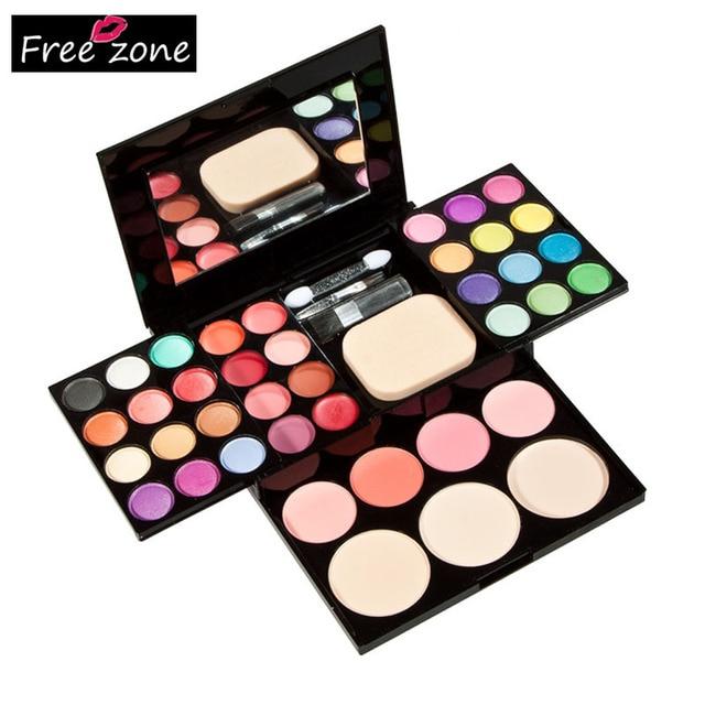 Professional Makeup Palette Set 24 Eyeshadow + 8 Lipstick + 4 Blusher + 3 Foundation Powder + Puff Make Up Tool Set