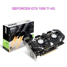 Video Card For MSI GEFORCE GTX 1050 TI 4G Graphics Card For NVIDIA GPU PCI-E3.0 DVI+HDMI+DP 2Fans Transcend 470D GTX960 GAMING X