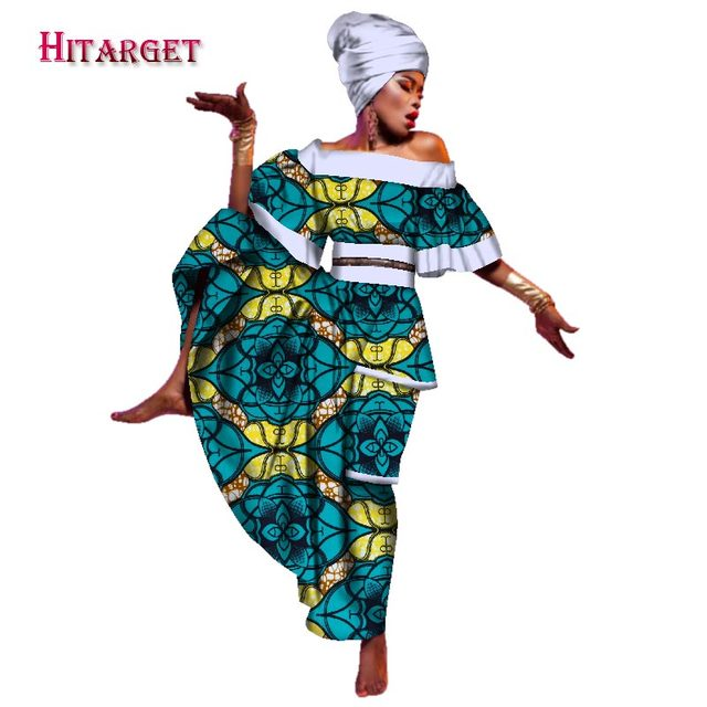 e4fc0d6722f New 2019 African Dresses for Women Printed Dashiki Dress   Headtie African  Casual Indian Traditional Clothing