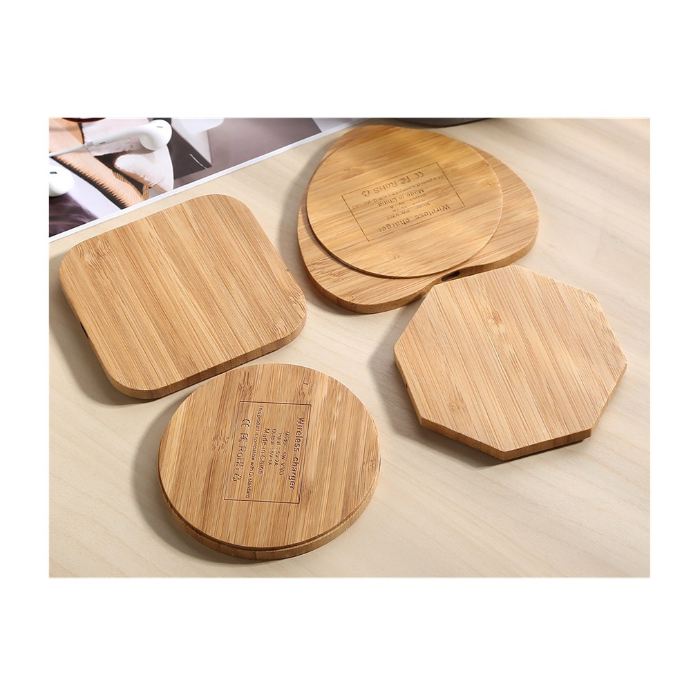 Bamboo wireless charging pads