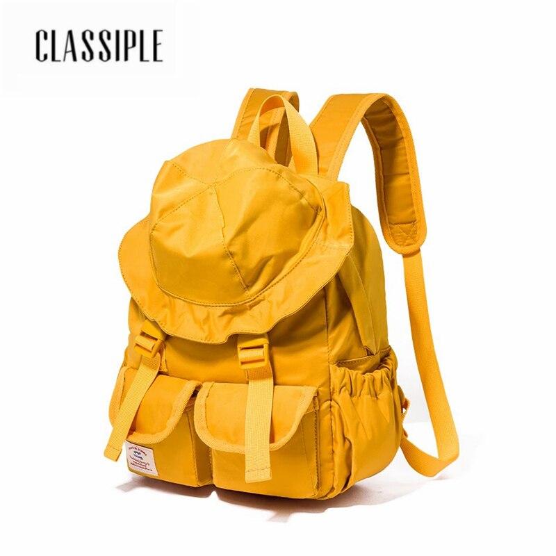 2018 Women Backpack Hot Sale Fashion Causal Bags High Quality Yellow Hat Cute Bag Women s