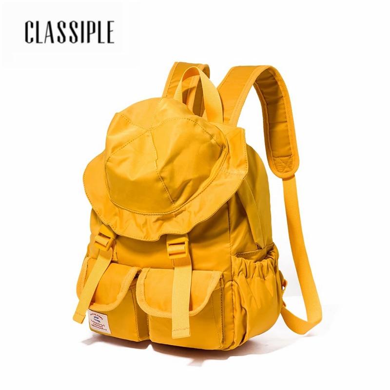 2018 frauen Rucksack Heißer Verkauf Mode Kausalen Taschen Hohe Qualität Gelb Hut Nette Tasche Frauen der Schule Tasche Jugendlichen Mädchen rucksäcke-in Rucksäcke aus Gepäck & Taschen bei  Gruppe 1