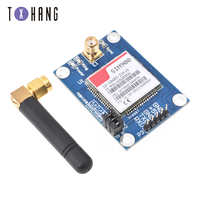 SIM900 MINI V4.0 Module sans fil GSM GPRS STM32 carte Kit antenneSIM900 MINI V4.0 Module sans fil GSM GPRS STM32 carte Kit antenne
