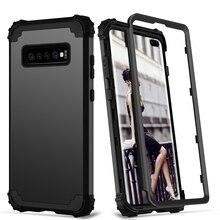 Für Samsung Galaxy S10 S9 S8 Plus Hinweis 9 Fall Volle Körper Abdeckung 3 in 1 Hybrid Harte PC & Soft Silikon Heavy Duty Robuste Stoßstange