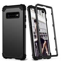 Per Samsung Galaxy S10 S9 S8 Più Nota 9 Caso di Tutto il Corpo Della Copertura 3 in 1 Hybrid Dura del PC e molle Del Silicone Heavy Duty Robusto Paraurti