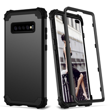 купить for Samsung Galaxy S10 S9 S8 Plus Note 9 Case Full-Body Cover 3 in 1 Hybrid Hard PC & Soft Silicone Heavy Duty Rugged Bumper по цене 275.21 рублей