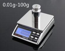 Компактные карманные весы для ювелирных изделий, 0,01 г, 200 г, электронные цифровые кухонные весы, карманные весы для пищевых продуктов, коробк...