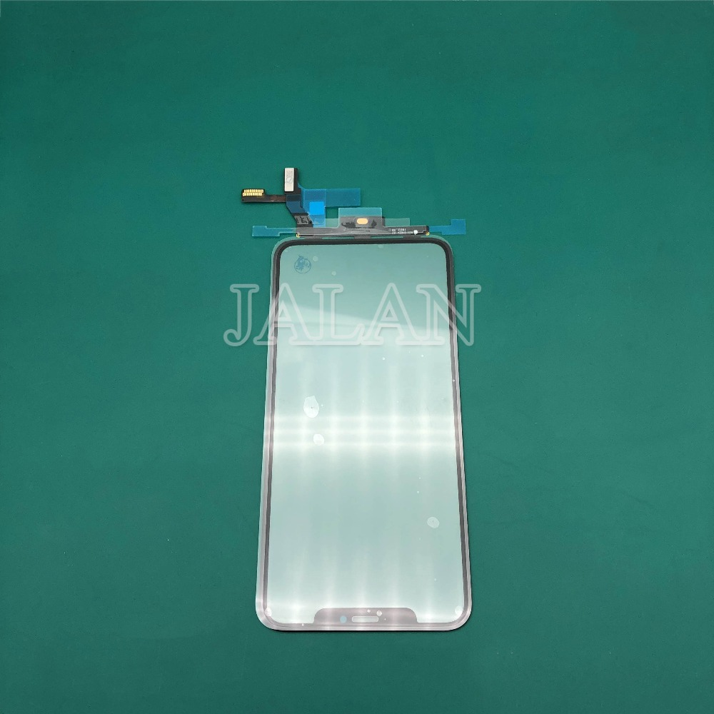 2pcs original digitized For iPhone x glass touch panel have laminated oca film can work ios