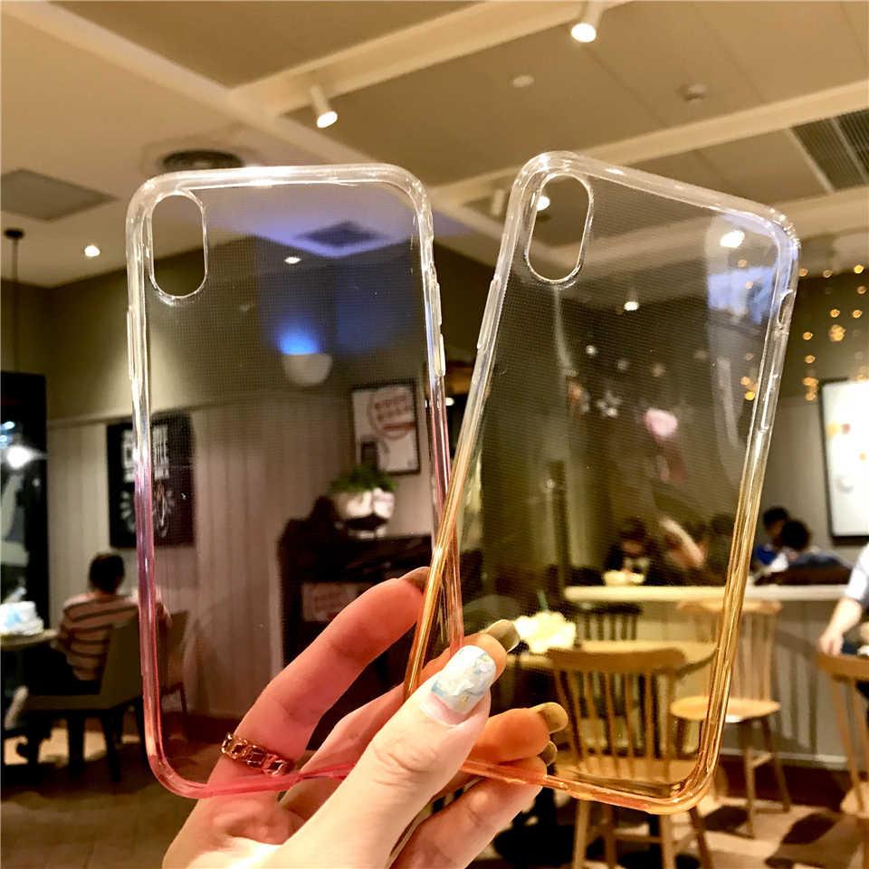 Arc-en-ciel Couleur TPU coque en silicone Sur Pour iphone XR 6 6 s 7 8 Plus X XS MAX Meizu Pro 6 Pro6 M3 M3S M5 M6 M6S Note 5C 5A Couverture Souple
