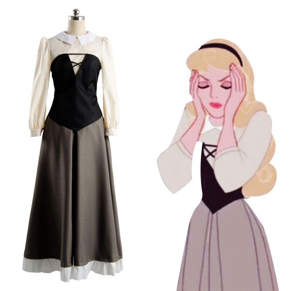 Sleeping Beauty Princess Aurora Dress Adult Cosplay Costume For Women full set
