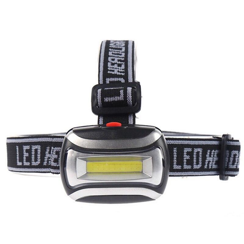 Z20 Led Cob Headlamp AAA Battery  Mini Headlight Outdoor Lighting Head Flashlight Torch Lamp 3 Modes