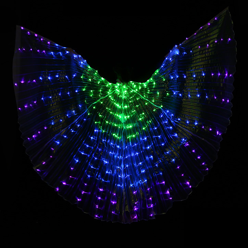 fashion led props wing for belly dance 300 leds polyester 3 color lamps butterfly bellydance isis wings dancing accessories
