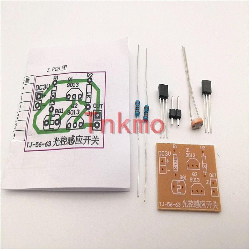 5pcs Light Control Sensor Switch Kit Photosensitive Induction Switch Kits DIY Electronic Trainning Integrated Circuit Suite