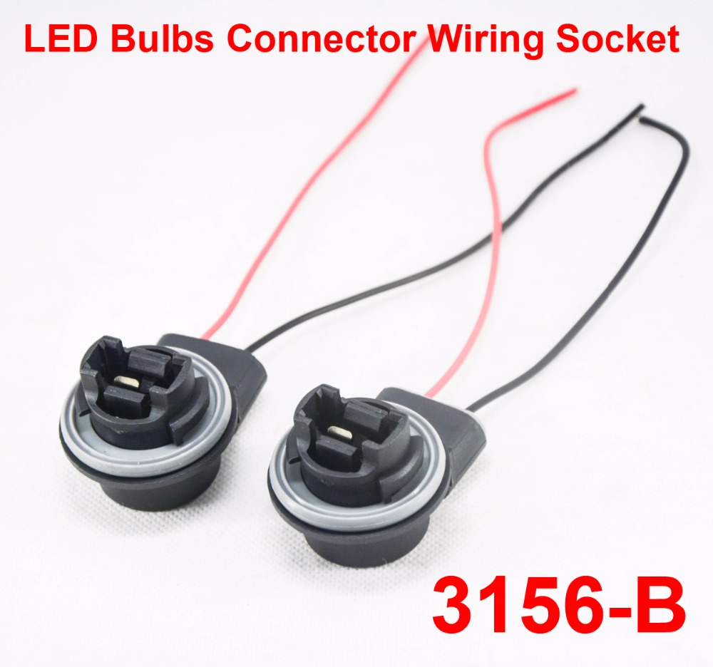 2pcs 3156 B Led Bulbs Holder Socket Wire Connector Extension Wiring A Light Bulb Reverse Stop Harness Line 1156 1157 3157 7440 7443 Ba15s Ba15d In Car Headlight Bulbsled