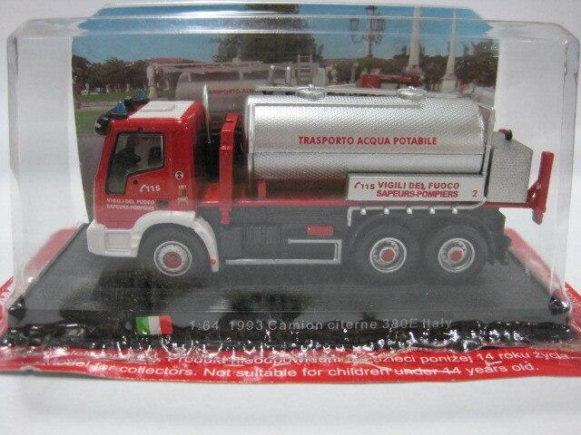 Амер 1/64 модель автомобиля Игрушечные лошадки Италия 1993 Камион цистерна 380E огонь Двигатели для автомобиля литье металла грузовик модель игр... ...