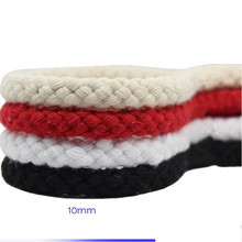 10mmX5m/pcs DIY Handmade weave rope cotton cord red white black decoration  braided