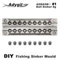 Adygil DIY рыболовный шар грузило формы ADBASM/#1 мяч грузило 8 г 9 полостей