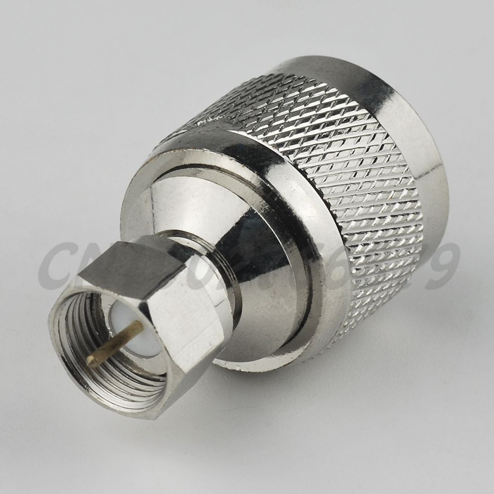 Type Male to Male Straight Coupler Adapter Coax Coaxial TV Connector Adaptor F