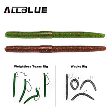 ALLBLUE 6pcs/lot Smell Plastic Worm Soft Bait 115mm /6.5g Soft Lure Artificial Lure Earthworm Bass Fishing Lures Wacky Rig