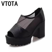 Vtota летние сандалии Женская обувь на платформе Сандалии на платформе Женская обувь на широком каблуке на высоком каблуке Zapatos Mujer женщин Туфли-лодочки X253