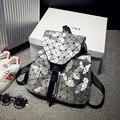 2016 New Fashionable Geometric Women Backpack Laptop Backpacks for Teenage Girls Diamond Lattice Stitching School Bag