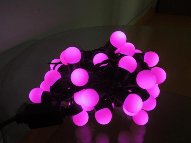 50X Holiday light string christmas lights led ball bulb pink string lighting 5 meters 50 lamp quality free shipping