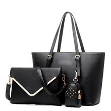 Bolso de Las Mujeres de moda Conjunto Luxuy Marca Compuesto Femenino PU Diseño Grande de Asas de Mensajero Ocasional Hombro Bolsa Bolsa Feminina