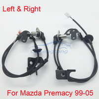 2 Pcs Set ABS Wheel Speed Sensor Rear Left And Right For Mazda Premacy 99 05