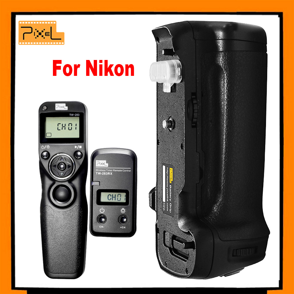 PIXEL Vertax D17 Battery Grip D-17 for Nikon D500 DSLR Cameras + Pixel TW-283/DC0 Wireless Timer Shutter Release For Nikon