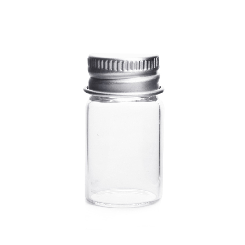60pcs/lot Glass Bottles Silver Cover Garrafa Jars Little Wishing Bottle Vials 22*40mm Tiny Message Vial Mason Jar 224013 ...