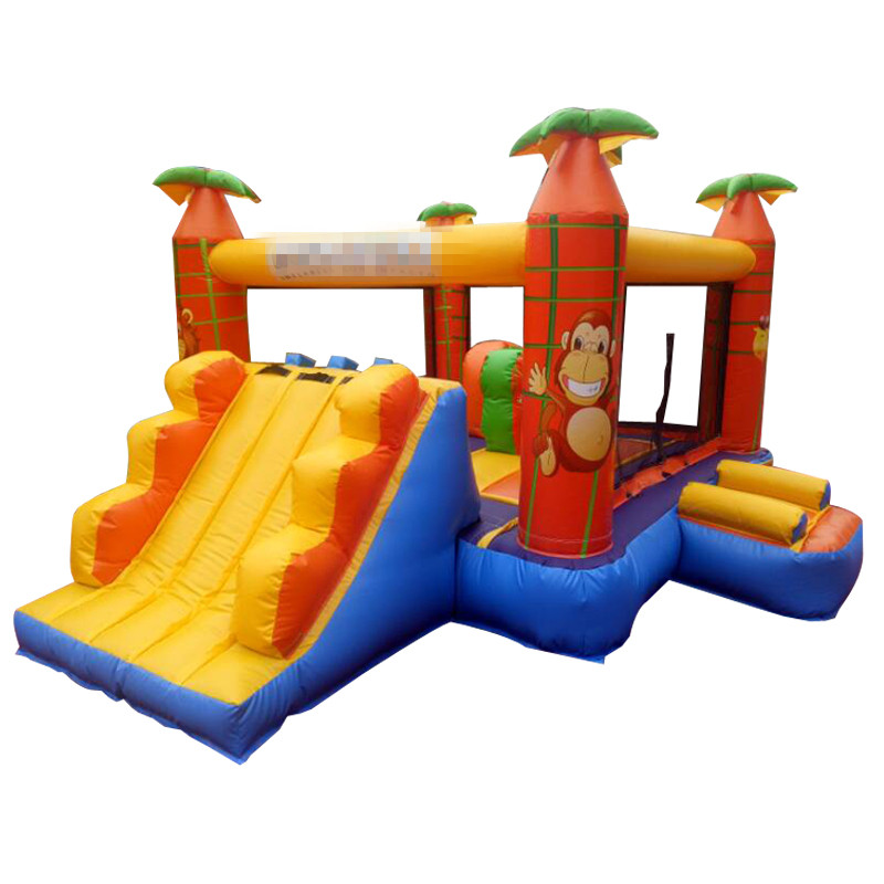 Hot selling Inflatable bouncy castle bounce house with climbing slide hot sale factory price pvc giant outdoor water inflatable slide bounce house bouncy slide