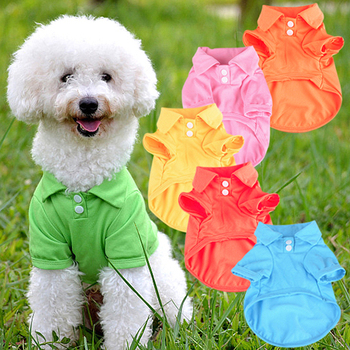 Hot! Cute Pet Puppy Polo Shirt Small Dog Cat Pet Clothes Costume Apparel T-Shirt
