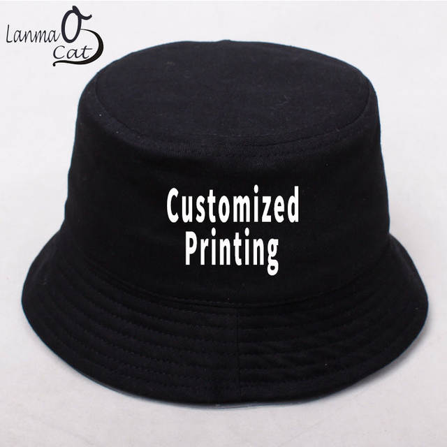Online Shop Lanmaocat Summer Bucket Cap Men Women Customized Logo Bucket Cap  Cotton Hip Hop Bucket Hat DIY Logo Personal Hats Free Shipping  128eb56e5