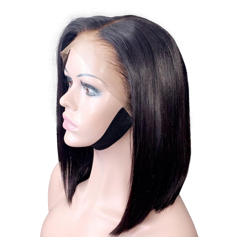13 6 Natural Hairline Silky Straight Bob Lace Front Human Hair Wigs Deep Parting Pre Plucked