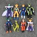 8 pçs/lote Estatueta dragonball Dragon Ball Z Figuras de Ação Goku Vegeta Celular PVC Figura Super Saiyan Goku Action Figure brinquedos