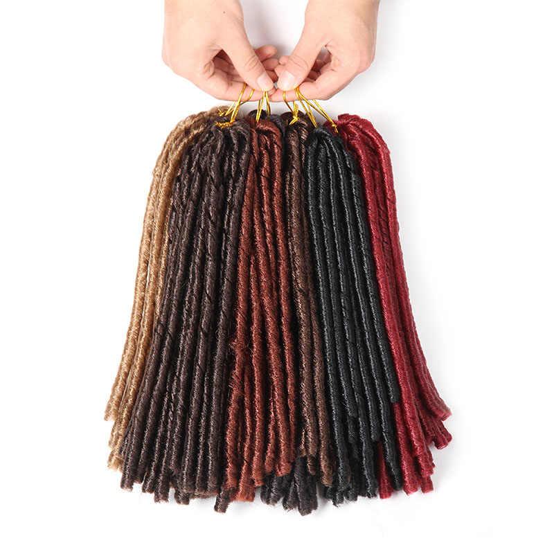 Мягкие дреды вязаные крючком косички 14 дюймов Синтетические косички волос 30 корней крючком наращивание волос для женщин