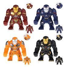 New Marvel Superhero Avengers Tony Stark Homem De Ferro Figuras de Ação Mech Building Blocks toy for Kids Presentes compatível legoings(China)