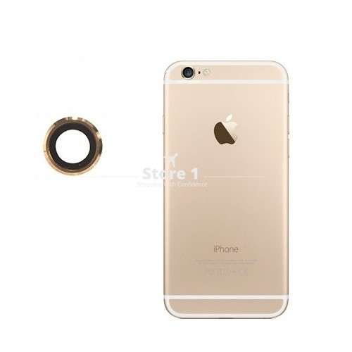 100% Original for Apple iPhone 6 Camera Lens; Sapphire Crystal Back Camera Glass Lens with Frame for iPhone 6 4.7 inch 7