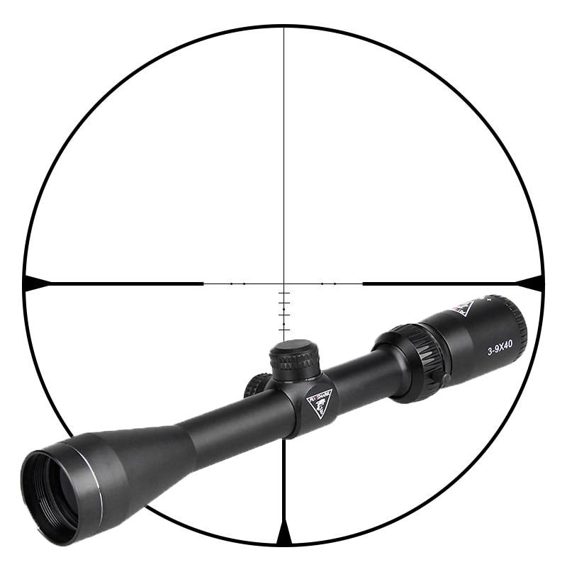 FLY SHARK Tactical 3-9x40 Riflescope Air Gun Optics Sight Hunting Scope With Free Scope Mount 11mm/20mm Gz10333