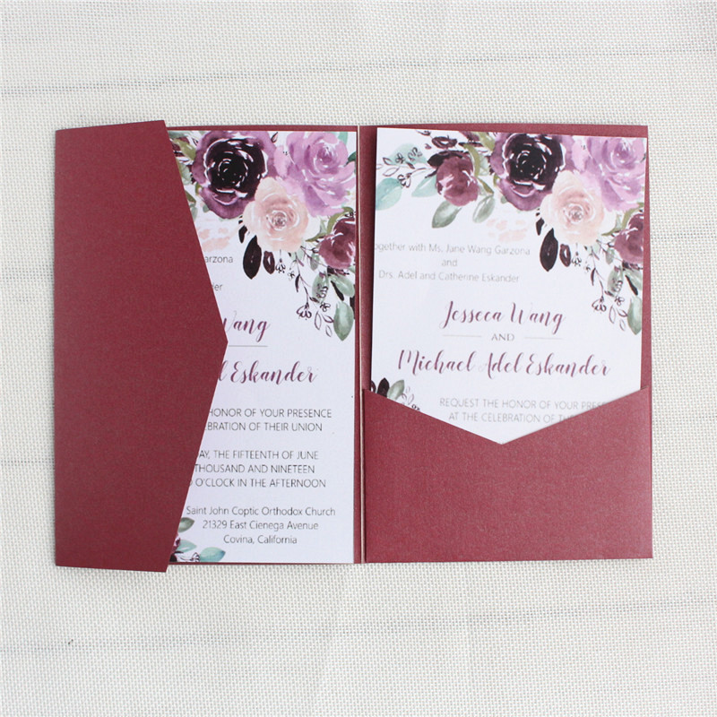 Black wedding invitations with gold belly band vintage wedding envelop customized printing multi colors in Cards Invitations from Home Garden