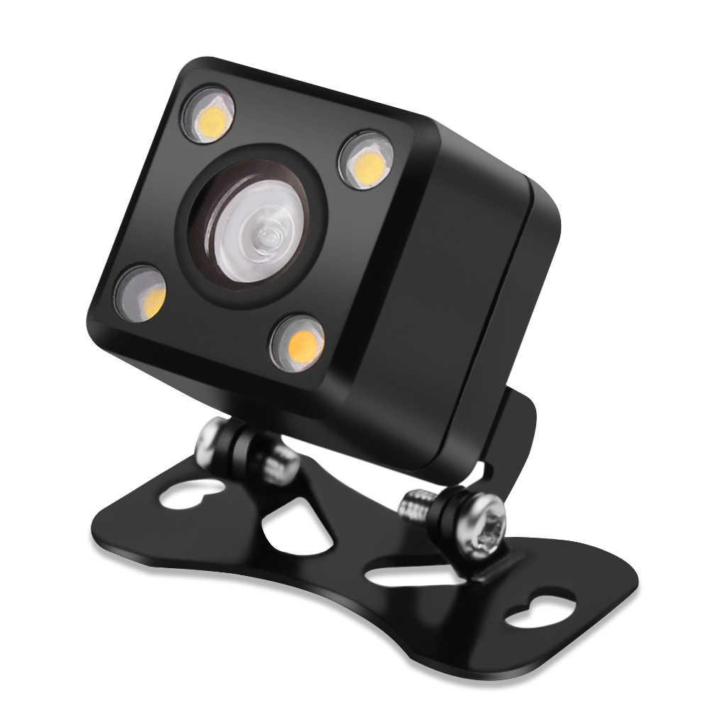4 светодиодный Универсальный водонепроницаемый широкоугольный объектив камера заднего вида 170 градусов для транспорта помощь при парковке ночное видение, парковочная линия