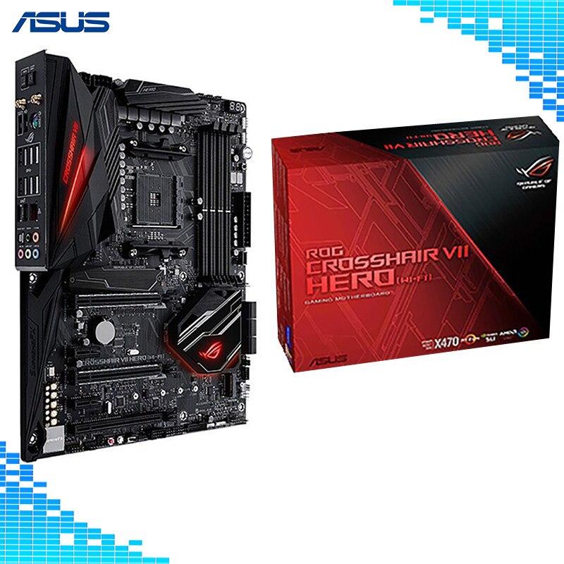 ASUS ROG Crosshair VII Hero (Wi-Fi) AMD Ryzen AM4 DDR4 M.2 USB 3.1 Gen2 ATX X470 Motherboard wi fi адаптер asus usb ac56