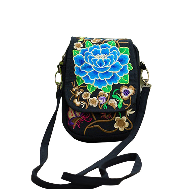 National Embroidered Bags Fashion Female Bag Embroidery One Shoulder Bag Inclined Three Layers Shoulder Bag 88 Best S