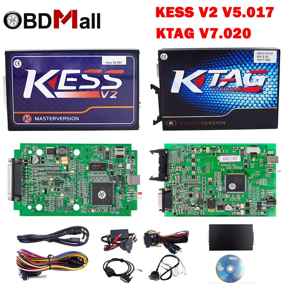 KESS V2 V5.017 EU Red PCB No Token Limited ECM Titanium KTAG V7.020 ECU Chip Tuning Kit  ...