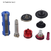 100:200 High Speed Gear Cylinder Piston Head 14 15 Teeth Piston Nozzle Spring Guide Tune Up Set for M4 AK series Airsoft AEG GBB