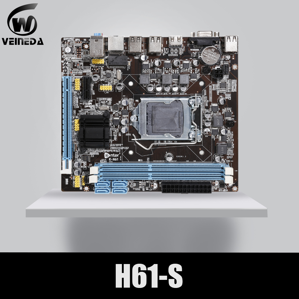 VEINEDA Desktop Mainboard Socket-Lga 1155 I3 Intel-Core DDR3 H61 FOR I5 I7 Memory 16G