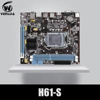 VEINEDA Original H61 S Desktop Motherboard Socket LGA 1155 FOR Intel Core i3 i5 i7 DDR3 Memory 16G uATX H61 PC Mainboard
