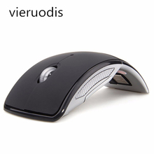 1PCS Wireless Mouse 2.4G Computer Mouse Desktop Office Foldable Folding Optical Mice USB Receiver for Laptop PC Computer factory price hot selling 2 4ghz mice optical mouse cordless usb receiver pc computer wireless for laptop drop shipping