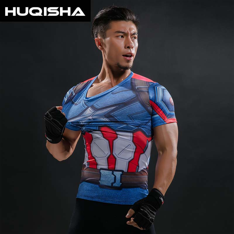 Capitão América da Guerra Civil Tee 3D Impresso Camisetas - Roupas masculinas