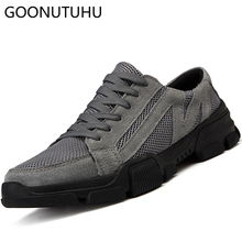 2019 summer fashion men's shoes casual breathable air mesh shoe man lace up big size 38-46 retro comfortable flats shoes for men цены онлайн